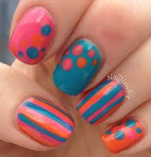 Spotty & stripy nails - can't wait to try this!