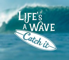 Life's a Wave Decal Summer Decal Surfing Decal by Designs4evershop