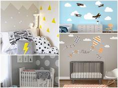 Iza - łowca zabawek: Kropki, groszki, gwiazdki, chmurki na ścianie INSPIRACJE