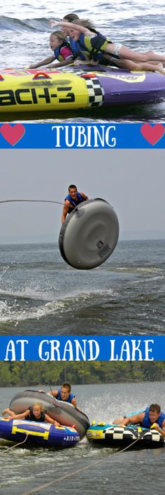 Rent a tow raft or tube or bring your own out to Grand Lake and catch some air! There is no better way to cool off on a hot day!