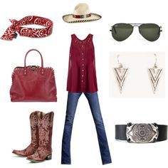 """""""Cowgirl Up! This hat says it all!"""" by peridotsgarden on Polyvore"""