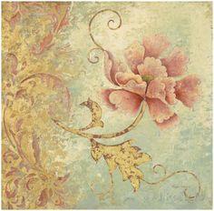 Gilded Aquamarine I Art Print