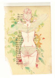Ilustraciones que demuestran el placer de desnudarte y sentirte libre