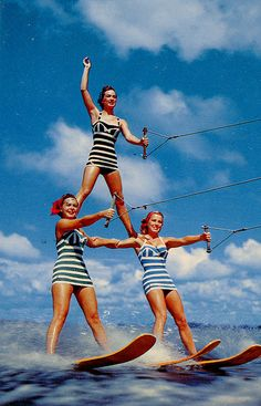 Cypress Gardens Girls waterskiing in #stripes http://www.amazon.com/The-Reverse-Commute-ebook/dp/B009V544VQ/ref=tmm_kin_title_0