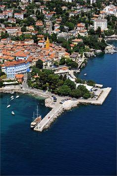 Croatia ~ Lovran My dad's town. Istria Croatia, 7 Continents, Thousand Islands, Seaside Resort, Natural Park, Croatia Travel, Famous Places, Central Europe, Bosnia And Herzegovina