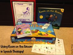 Speechy Musings: Tons of ideas (including freebies, a craft, and a snack) for Room on the Broom for speech therapy!