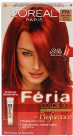 Dark Intense Red Hair Color Large Image For L Oreal Feria Booster Pure E 1 Kit In 2018 Pinterest And