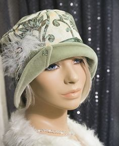 1920s VINTAGE INSPIRED  CLOCHE HAT FLAPPER GREAT GATSBY, Mr SELFRIGDE, DOWNTON
