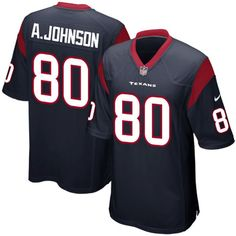 Andre Johnson Houston Texans Nike Game Jersey - Navy Blue