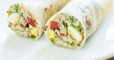 Recipe: Hard Egg Tuna Wrap and Mayonnaise - cuisine - Salad Recipes Healthy Wrap Recipes, Egg Recipes, Sandwich Recipes, Tuna Wrap, Healthy Salad Recipes, Healthy Wraps, Vegetarian Wraps, Wrap Sandwiches, Clean Eating Snacks