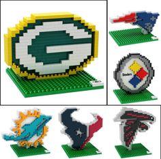 NFL Football 3D BRXLZ Team Logo Puzzle Construction Block Set - Pick Team! | Sports Mem, Cards & Fan Shop, Fan Apparel & Souvenirs, Football-NFL | eBay!