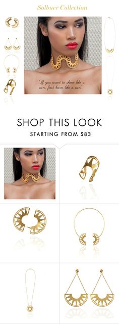 """""""Solbuer by Desperate Jewelry"""" by blingsense ❤ liked on Polyvore"""