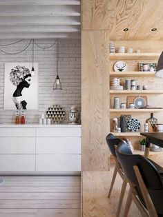 myidealhome: homedesigning: (via Modern Dining Shelving)