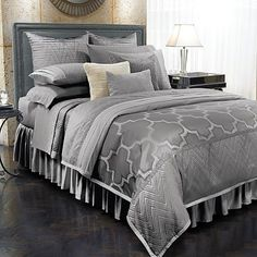 We have the Euro shams, the bedding, and the sheets... I need all those throw pillows and the quilt!