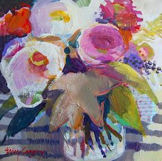 Floral oil paintings by Alabamian artist Erin Fitzhugh Gregory