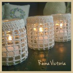 Crochet Cozy, Love Crochet, Filet Crochet, Crochet Decoration, Crochet Home Decor, Crochet Flower Patterns, Crochet Flowers, Mason Jar Crafts, Mason Jars
