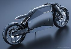 Samurai motorcycle concept: flat electronic dash built into the top triple clamp