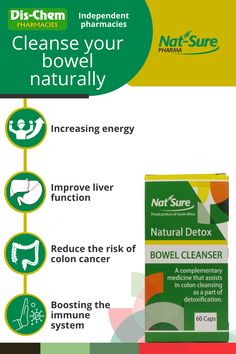 A detox is a process whereby you stimulate your body to get rid of all the toxins that you take in from your environment. A detox revitalises your body while relieving below mentioned symptoms and increasing your energy levels. It protects against digestive upsets and restores your natural digestive balance. When using this product, it is important to drink enough water (8 glasses per day). This is not a laxative, therefore expect results in 2-3 days and not in 2 to 3 hours. Colon Cancer, Natural Detox, Energy Level, Health Products, Cleanser, Medicine, Environment, Glasses