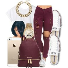 A fashion look from January 2016 featuring CC t-shirts, Converse sneakers and Michael Kors backpacks. Browse and shop related looks.