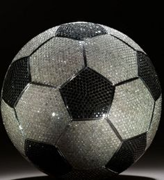 Gold plated and diamond soccer ball