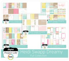 Soft and subtle with touches of kraft, the Heidi Swapp Dreamy Edition is beautifully designed by Heidi Swapp. Digital Project Life, Project Life Cards, Becky Higgins, Heidi Swapp, Lol, Projects, Beauty, Scrapbooking, Design