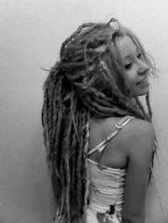 beautiful dreadlocks black and white photo #dreads