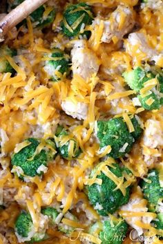 One pan chicken, broccoli, rice and cheese - tinaschic.com