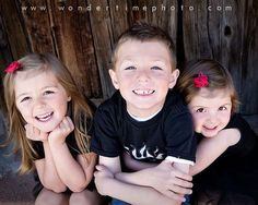 Children's photo session in downtown Tucson, Arizona with these three cuties ~ so much fun! www.wondertimephoto.com