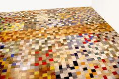 A floor made from Formica® laminate samples