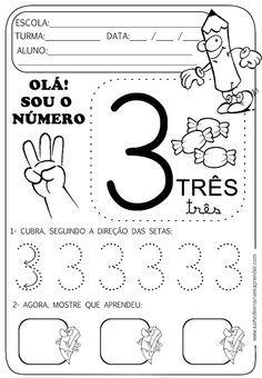 A Arte de Ensinar e Aprender: atividades Number Sense Activities, Learning Activities, Kids Learning, Activities For Kids, Writing Numbers, Preschool Kindergarten, Math Worksheets, Homeschool, Teaching