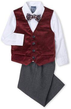 f9c4f151c Nautica Infant Boys) 4-Piece Velvet Vest & Pants Set Infant Boys, Toddler