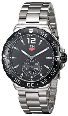 TAG HEUER F1 MEN'S STAINLESS STEEL CASE DATE SAPPHIRE GLASS UHR WAU1110.BA0858