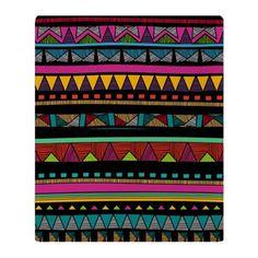 Native Pattern Throw Blanket on CafePress.com