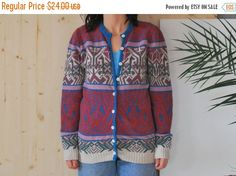 SALE Norwegian Wool sweater Geometrical Sweater by kickassvintage
