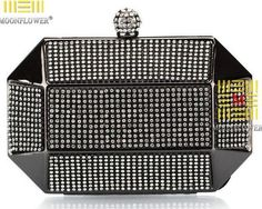 TenTop-A Luxury Party Clutch Bag Iron Box Full Diamond Evening Bag Clutch Solid Purse Diamond Wedding Handbags Black Silver Gold