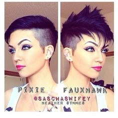 Heather Symmes rocks the hawk! Love the kiss of purple hair color too. #hotonbeauty www.fb.com/hotbeautymagazine