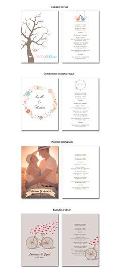 Programmes de cérémonie laïque à imprimer à la maison (modèles recto-verso) - © THE cérémonie Ceremony Programs, I Got Married, D Day, Diy Wedding Decorations, Marry Me, Wedding Day, Invitations, Inspiration, Weeding