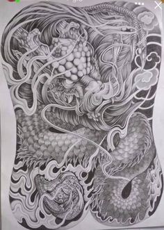 Snake Tattoo, Lion Tattoo, Koi Fish Designs, Cool Back Tattoos, Japanese Dragon Tattoos, Oriental Tattoo, Dragon Tattoo Designs, Dragon Pictures, Chinese Dragon