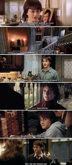fav line in the goblet of fire,How are you? Spectacular. fav line in the half blood prince. she's only interested in you because she thinks your the chosen one. I am the chosen one