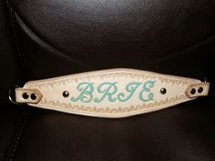 Personalized Hand Tooled Leather Martingale by GardnersWorkshop, $70.00