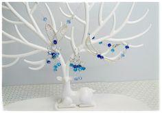Heidin korutaiteilut: Sininen unelma Wire Wrapping, Diy Jewelry, Chandelier, Ceiling Lights, Home Decor, Candelabra, Decoration Home, Room Decor, Chandeliers