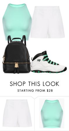 """""""Untitled #2115"""" by ayannap ❤ liked on Polyvore featuring Retrò, Hallhuber and Michael Kors"""