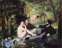 Edouard Manet, Déjeuner sur l'herbe, 1863 on ArtStack #edouard-manet #art