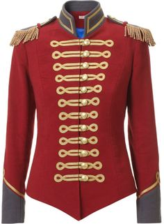 Red Military Jacket - Lyst