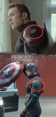 Captain America: Civil War   Cap took off the Avengers logo