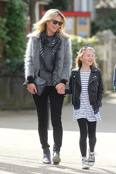 Stripes and black!!!!!!  Kate and her daughter!