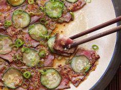 Cold Steak Salad With Cucumber and Ponzu-Mustard Vinaigrette