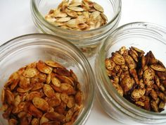 3 different roasted pumpkin seed recipes