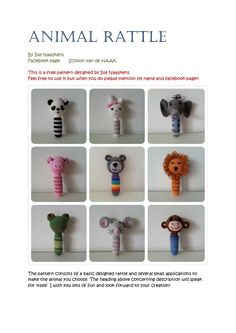 animal rattle free crochet patterns