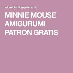 MINNIE MOUSE AMIGURUMI PATRON GRATIS